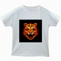 Tiger Kids White T Shirts