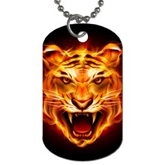 Tiger Dog Tag (one Side)
