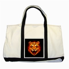 Tiger Two Tone Tote Bag