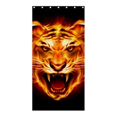 Tiger Shower Curtain 36  X 72  (stall)