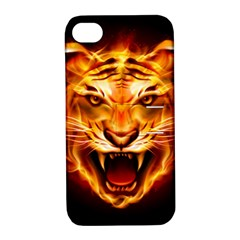 Tiger Apple Iphone 4/4s Hardshell Case With Stand by Nexatart