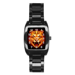 Tiger Stainless Steel Barrel Watch