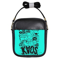 Typography Illustration Chaos Girls Sling Bags by Nexatart
