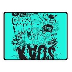 Typography Illustration Chaos Fleece Blanket (small)