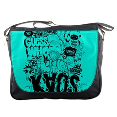 Typography Illustration Chaos Messenger Bags by Nexatart