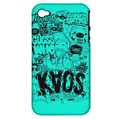 Typography Illustration Chaos Apple Iphone 4/4s Hardshell Case (pc+silicone)