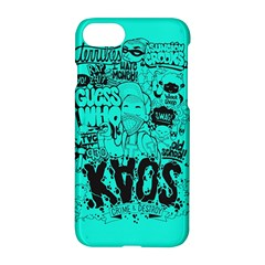 Typography Illustration Chaos Apple Iphone 7 Hardshell Case
