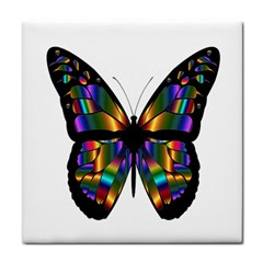 Abstract Animal Art Butterfly Tile Coasters