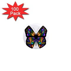 Abstract Animal Art Butterfly 1  Mini Magnets (100 Pack)  by Nexatart