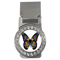 Abstract Animal Art Butterfly Money Clips (cz)