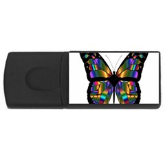 Abstract Animal Art Butterfly Usb Flash Drive Rectangular (4 Gb) by Nexatart