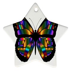 Abstract Animal Art Butterfly Star Ornament (two Sides)