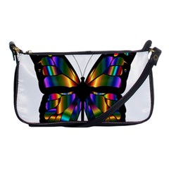 Abstract Animal Art Butterfly Shoulder Clutch Bags
