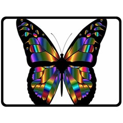 Abstract Animal Art Butterfly Fleece Blanket (large)