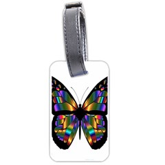 Abstract Animal Art Butterfly Luggage Tags (two Sides) by Nexatart