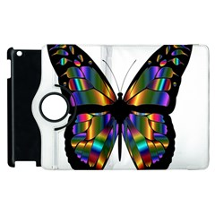 Abstract Animal Art Butterfly Apple Ipad 2 Flip 360 Case by Nexatart