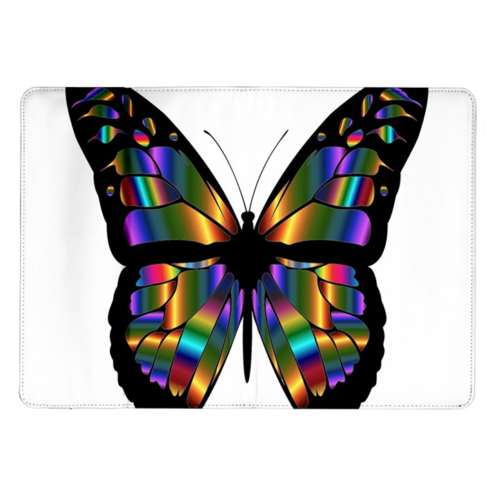 Abstract Animal Art Butterfly Samsung Galaxy Tab 10.1  P7500 Flip Case
