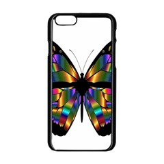 Abstract Animal Art Butterfly Apple Iphone 6/6s Black Enamel Case by Nexatart