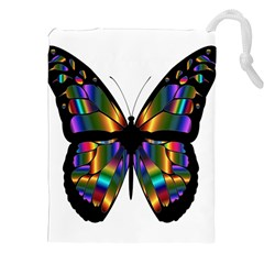 Abstract Animal Art Butterfly Drawstring Pouches (xxl)
