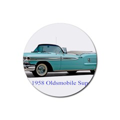1958 Oldsmobile Super 88 J2 2a Rubber Round Coaster (4 Pack)  by Jeannel1