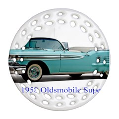 1958 Oldsmobile Super 88 J2 2a Round Filigree Ornament (two Sides) by Jeannel1