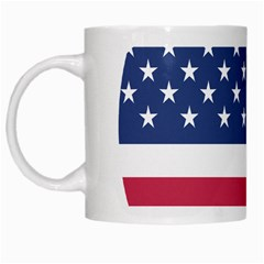 American Flag White Mugs