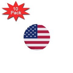 American Flag 1  Mini Buttons (10 Pack)