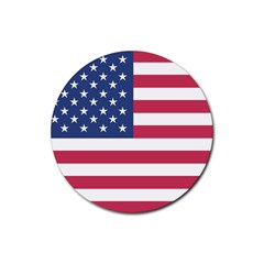 American Flag Rubber Coaster (round)