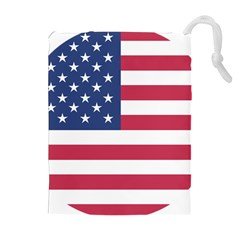 American Flag Drawstring Pouches (extra Large) by Nexatart