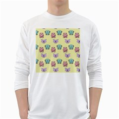Animals Pastel Children Colorful White Long Sleeve T-shirts by Nexatart