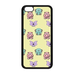Animals Pastel Children Colorful Apple Iphone 5c Seamless Case (black) by Nexatart