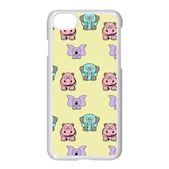 Animals Pastel Children Colorful Apple Iphone 7 Seamless Case (white) by Nexatart