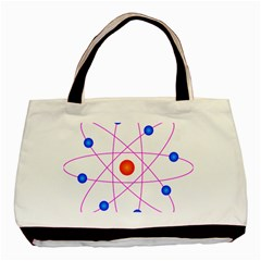 Atom Model Vector Clipart Basic Tote Bag (two Sides)