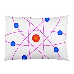 Atom Model Vector Clipart Pillow Case (two Sides)
