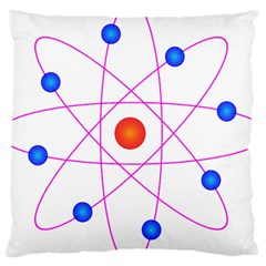 Atom Model Vector Clipart Large Cushion Case (one Side)