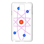 Atom Model Vector Clipart Samsung Galaxy Note 3 N9005 Case (White) Front