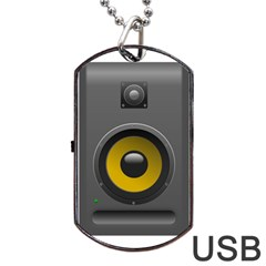Audio Loadspeaker Activ Dog Tag Usb Flash (two Sides)