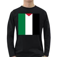 Palestine Flag Long Sleeve Dark T Shirts