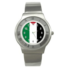 Palestine Flag Stainless Steel Watch