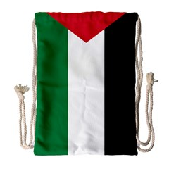 Palestine Flag Drawstring Bag (large)