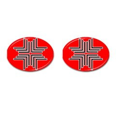 Backdrop Background Pattern Cufflinks (oval)