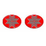 Backdrop Background Pattern Cufflinks (Oval) Front