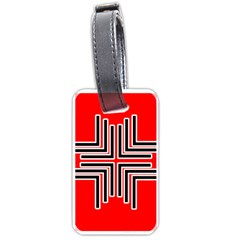 Backdrop Background Pattern Luggage Tags (one Side)  by Nexatart