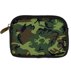 Camouflage Green Brown Black Digital Camera Cases by Nexatart