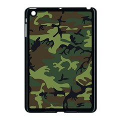 Camouflage Green Brown Black Apple Ipad Mini Case (black) by Nexatart