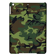 Camouflage Green Brown Black Ipad Air Hardshell Cases by Nexatart