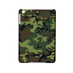 Camouflage Green Brown Black Ipad Mini 2 Hardshell Cases by Nexatart