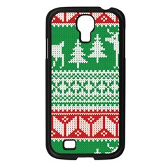Christmas Jumper Pattern Samsung Galaxy S4 I9500/ I9505 Case (black) by Nexatart