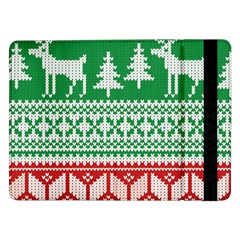 Christmas Jumper Pattern Samsung Galaxy Tab Pro 12 2  Flip Case by Nexatart