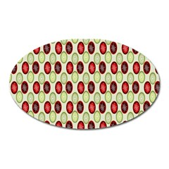 Christmas Pattern Oval Magnet by Nexatart
